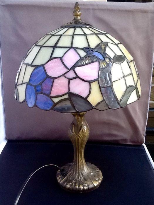 Super Tiffany lamp met kolibrie - Lampen - De Colibri antiek en curiosa FI-66